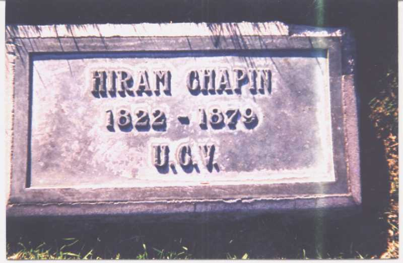 Photo of Hiram F. Chapin tombstone: Anaheim, CA